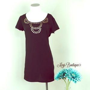 ⭐️Merona Elegant Silky Black Blouse Size S⭐️